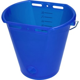 Kalveremmer blauw transparant
