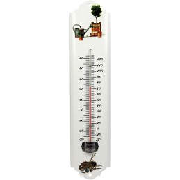 Thermometer metaal wit