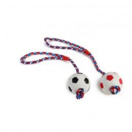 BZ rubber honden speelbal aan koord 6cm