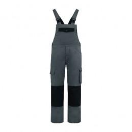 Tuinbroek katoen / polyester grijs / zwart