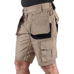 Korte werkbroek short Job Khaki