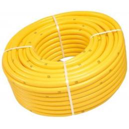 """Gele slang 1 1/4"""" getricoteerd high twist resistant 50m"""