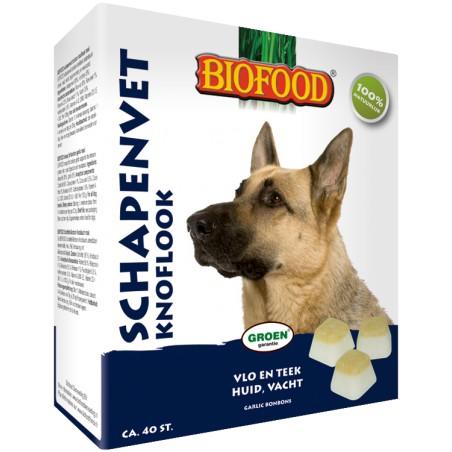 Biofood schapenvet bonbon knoflook 40 st