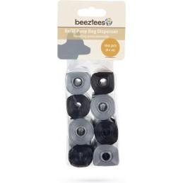 BZ poepzakjes 8 x 20 stuks zwart/grijs