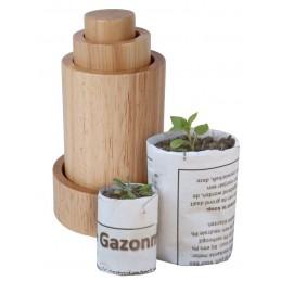 Kweekpotjes maker hout 3 stuks