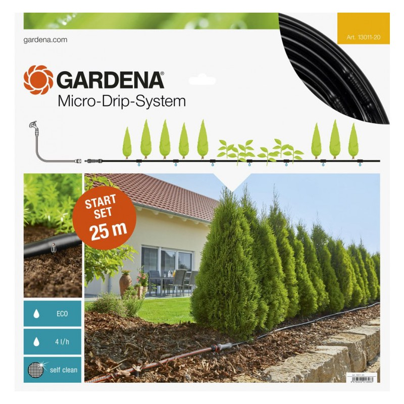 Gardena Start Set M voor rijplanten 25m