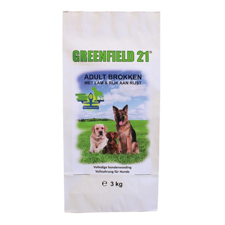 Greenfield 21 adult lam & rijst diner 10 kg.