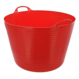 Flexibele mand rood 60 liter