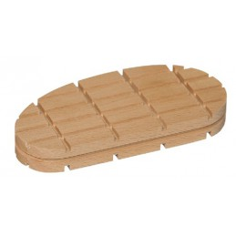 Dun klauwblokje hout 50 stuks