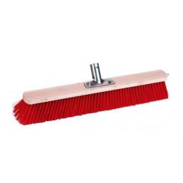 Bezem nylon rood 60cm
