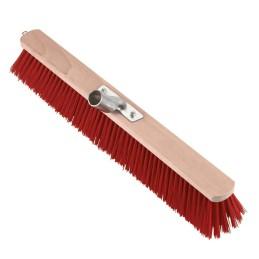 Bezem nylon rood 80cm
