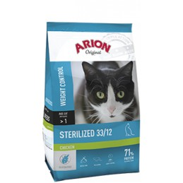 Arion Kattenbrokken Original sterilized kip 33/12 2kg