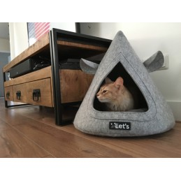 Let's sleep Pet Cave TeePee Antraciet