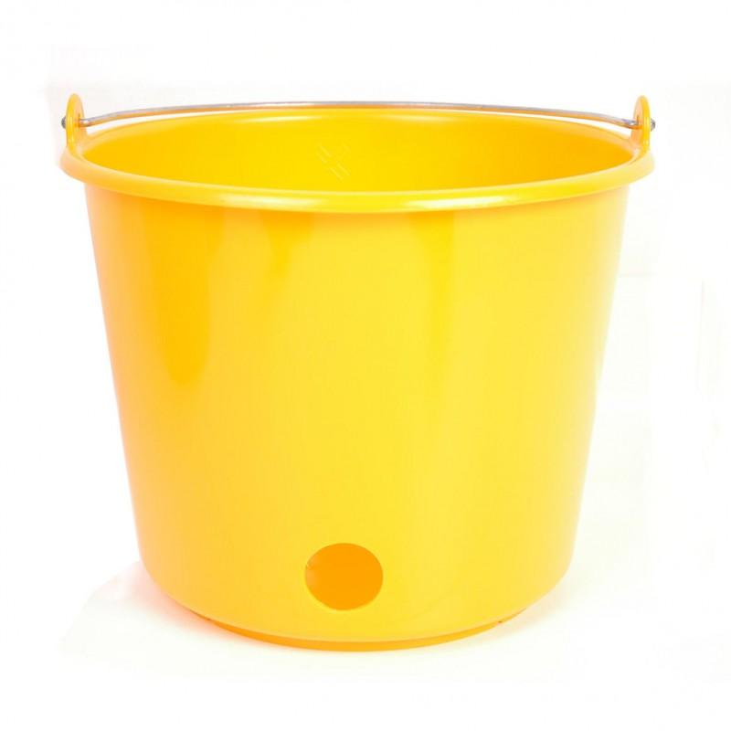 Kalveremmer kunststof rond 12L geel