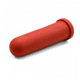 Kalverspeen Rood 10 cm kruisgat