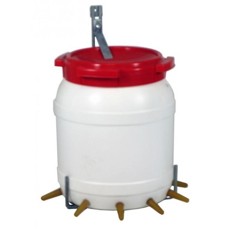 Lambar met deksel & beugel 13 liter 6 speens