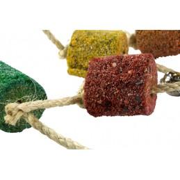 Birrdeeez Papegaai speeltje zandbal aan sisaltouw