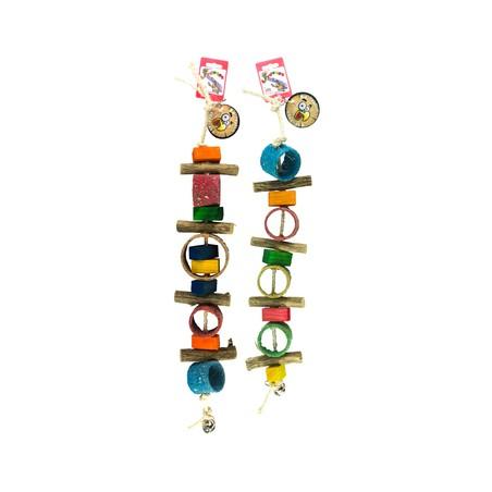 Birrdeeez Sekelbos Tubes Parrot Toy