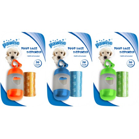 Poop Bags Dispenser with Refill (2 x 20 pcs)