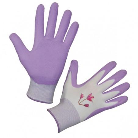 Handschoen Garden Care lila mt.8