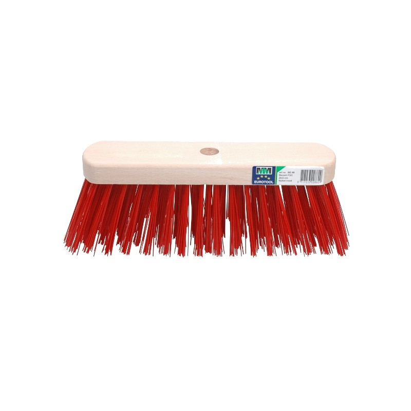 Losse straatbezem FSC 29cm kunstvezel rood