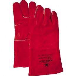 Lashandschoen rood