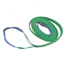 Hijsband 2-laags groen 2m/ 60mm 2 ton