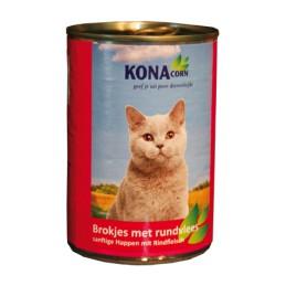 Konacorn blikvoer met rundvlees voor de kat 410 gr.