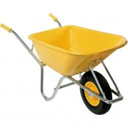 Kruiwagen 100L geel elektrolytisch verzinkt