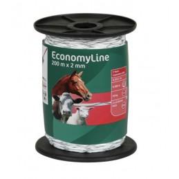AKO schrikdraad EconomyLine wit kruisgewikkeld 200m