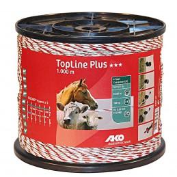 AKO TopLine Plus wit/rood schrikdraad 1000m