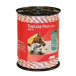 AKO schrikdraad TopLine Plus wit/rood 400m