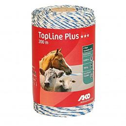 AKO schrikdraad TopLine Plus wit/blauw 200m