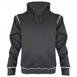 Hooded Sweater zwart hedmark storvik