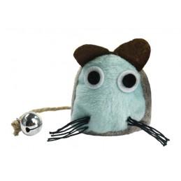 Speelgoedmuis met catnip blauw
