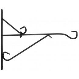 Muurhaak smeedijzer zwart 35 cm