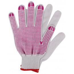 Werkhandschoenen katoen roze