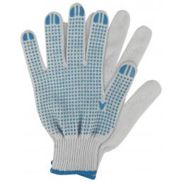 Werkhandschoenen katoen blauw