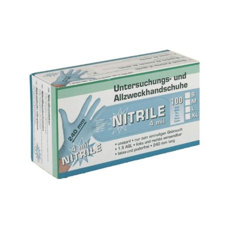 Melkershandschoen Nitril blauw 100 stuks