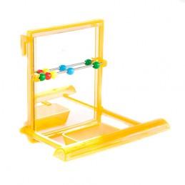 BZ vierkante spiegel met zitstok en kraaltjes