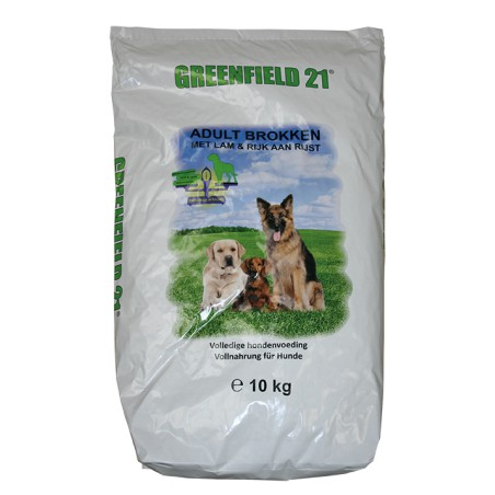 Greenfield 21 adult lam & rijst brokken 10 kg
