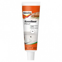 Alabastine kneedbaar hout wit 50 ml