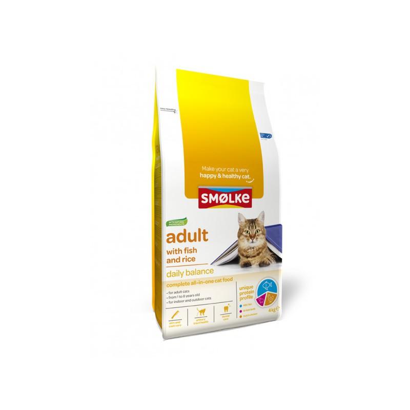 Smølke kat Adult vis en rijst  4 kg