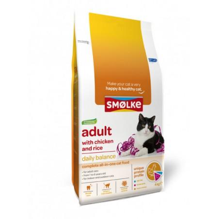 Smølke kat Adult kip en rijst 4 kg