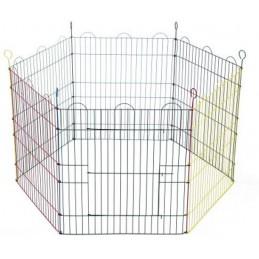 BZ Konijnenren met 6 gekleurde panelen