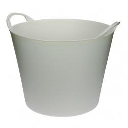 Flexibele Tuinmand 40 liter wit