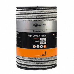 Schriklint PowerLine 40mm wit 200m