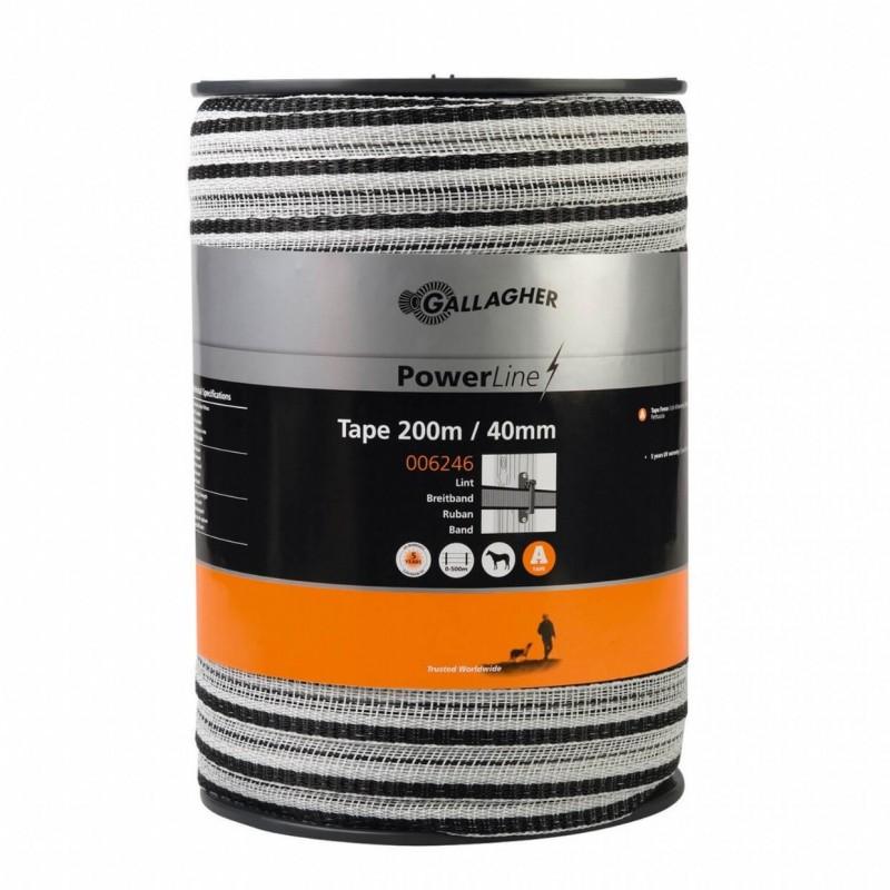 Schriklint PowerLine 40mm wit 200m