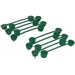 Plantenklemmen groen 15 stuks 15 mm