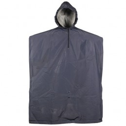 One size regenponcho donkerblauw